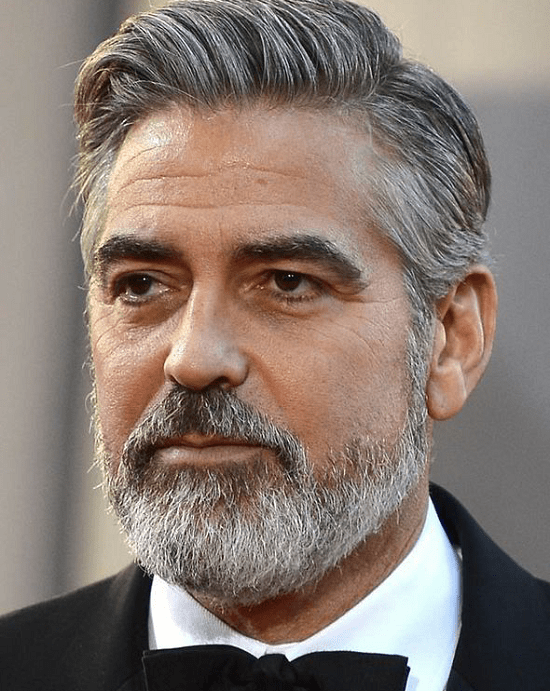 George-Clooney Top 60 Celebrities With A Beard