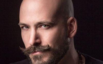 bald men with mustache