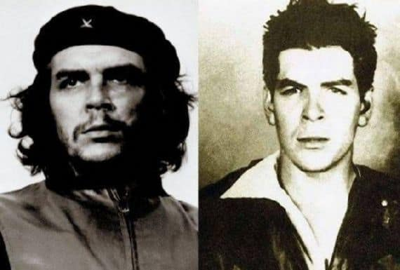 Che Guevara with and without beard