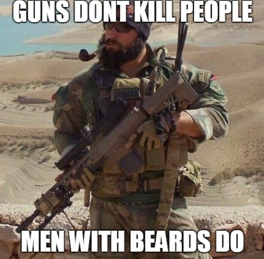 guns-do-not-kill-people-men-with-beards-do-funny-beard-memes 50 Funny Beard Memes That'll Definitely Make You Laugh