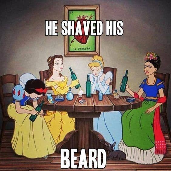 he-shaved-his-beard-meme 50 Funny Beard Memes That'll Definitely Make You Laugh