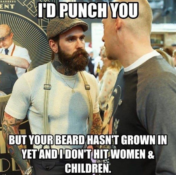 i-would-punch-you-but-your-beard-has-not-grown-in-yet-funny-beard-memes 50 Funny Beard Memes That'll Definitely Make You Laugh
