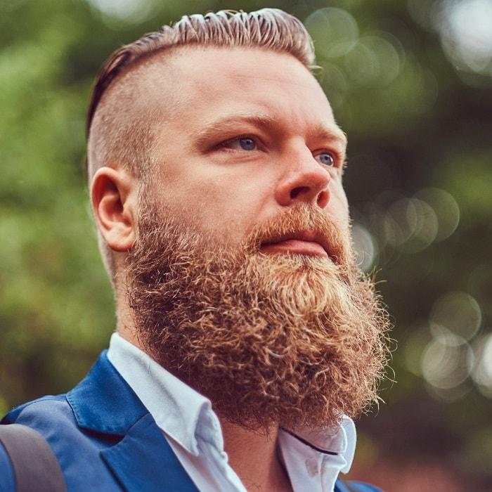long and full beard hides bald spot