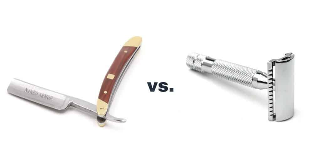 straight razor vs. safety razor