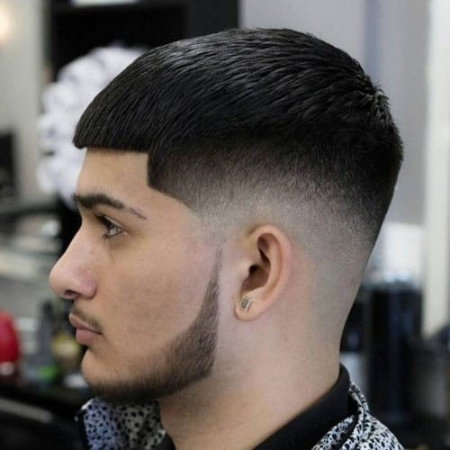 Chinstrap-Beard-With-Crop-Top-Fade 100 Trendy Chin Strap Beard Styles to Copy