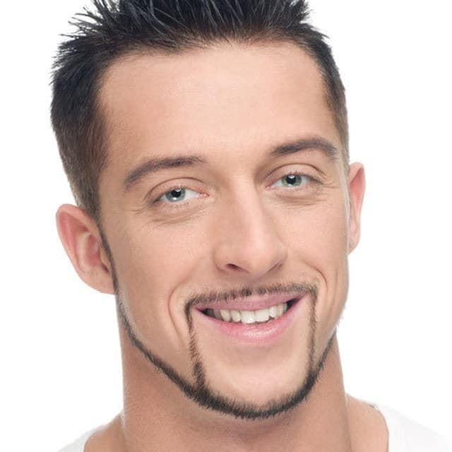Connected-Pencil-Mustache 100 Trendy Chin Strap Beard Styles to Copy