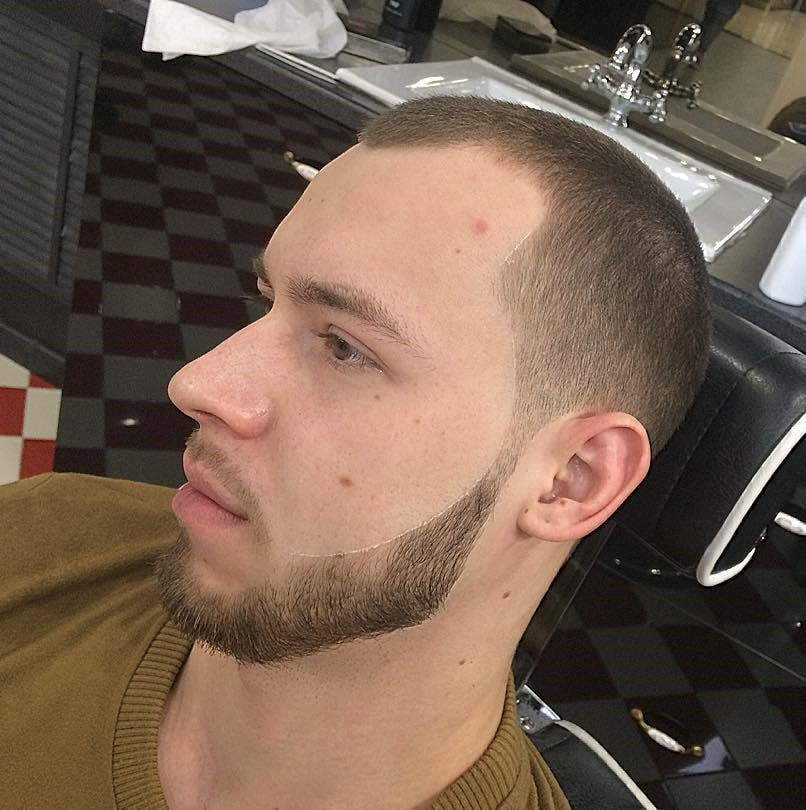 Sharp-Mustache-with-An-Acute-Trim-min 100 Trendy Chin Strap Beard Styles to Copy