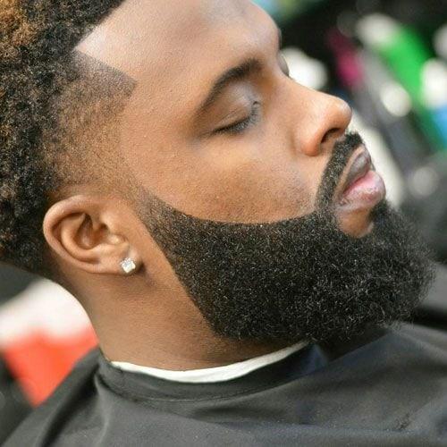 Square-Jawed 70 Trendiest Beard Styles for Black Men