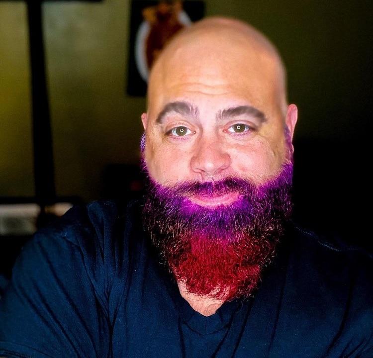 long-colored-beard 70 Sexy Long Beard Styles for Men