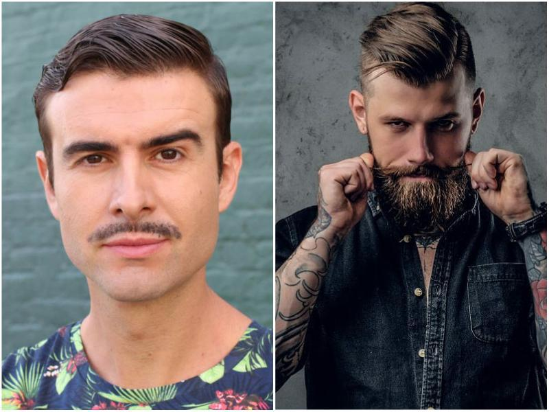 mustache-with-and-without-beard 70 Hottest Mustache Styles for Guys Right Now [2019]