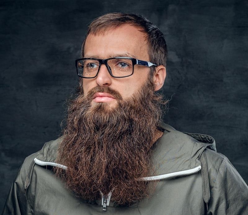 short-hair-with-long-beard 70 Sexy Long Beard Styles for Men
