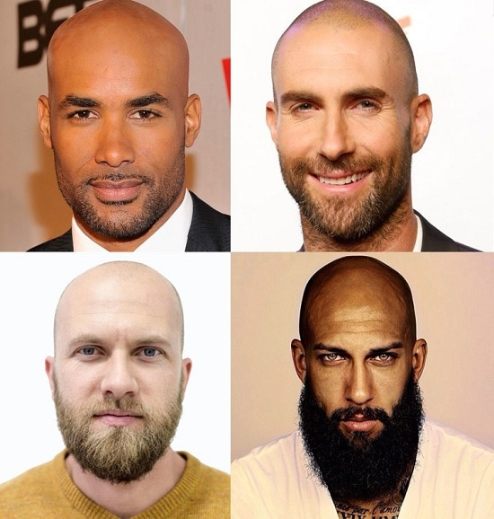 BEARD-FOR-bald-man 100 Incredible Hairstyles With Beard To Try (2020)