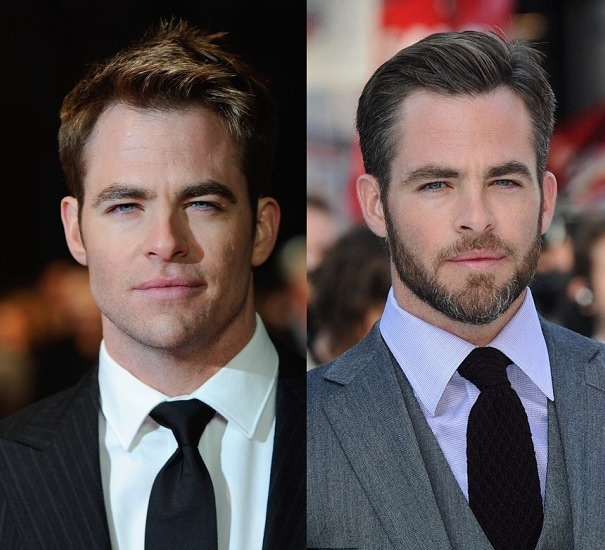 CHRIS-PINE 21 Photos Of Celebrities With & Without Beard