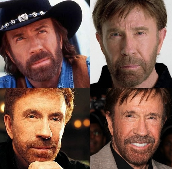 Chuck Norris's Beard style