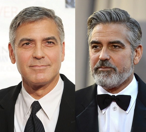 GEORGE-CLOONEY 21 Photos Of Celebrities With & Without Beard