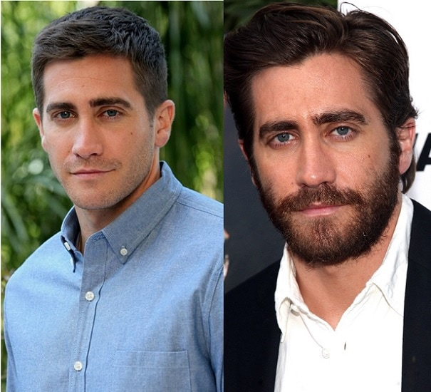 JAKE-GYLLENHAAL 21 Photos Of Celebrities With & Without Beard
