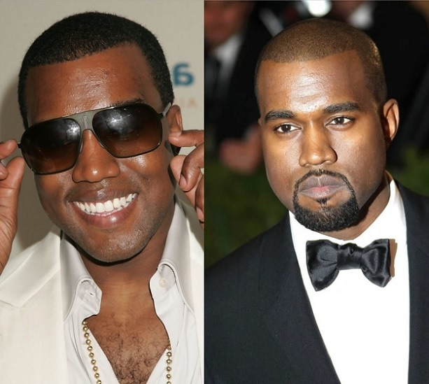 KANYE-WEST 21 Photos Of Celebrities With & Without Beard