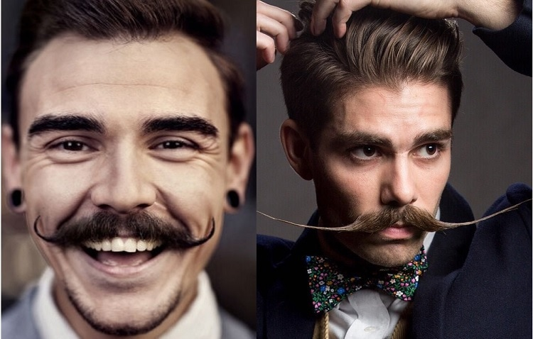 LONG-AND-THIN-FACES 70 Hottest Mustache Styles for Guys Right Now [2019]