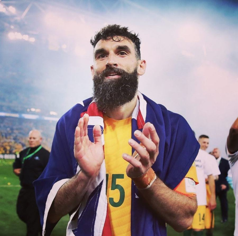 Mile-Jedinak 30 Best Beard Styles Donned By Footballers in 2018 FIFA World Cup