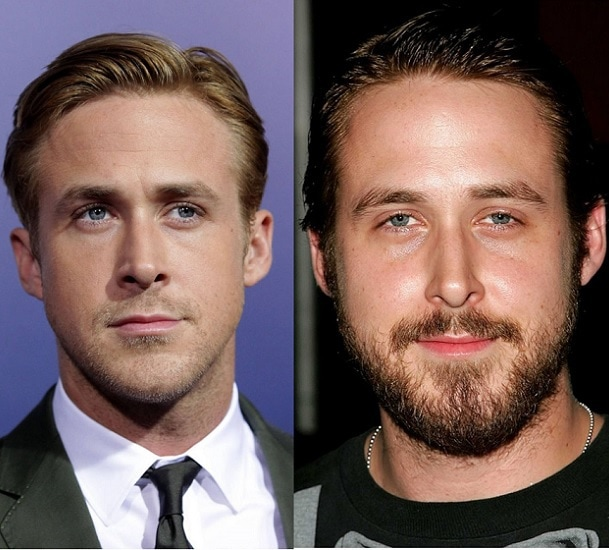 RYAN-GOSLING 21 Photos Of Celebrities With & Without Beard