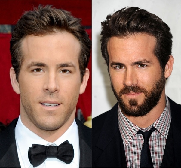 RYAN-REYNOLDS 21 Photos Of Celebrities With & Without Beard