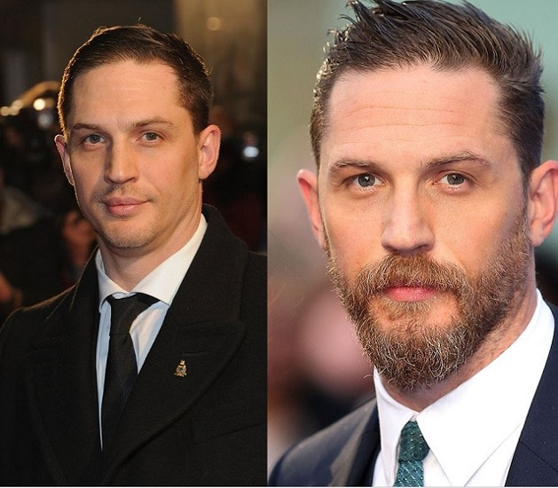 TOM-HARDY 21 Photos Of Celebrities With & Without Beard