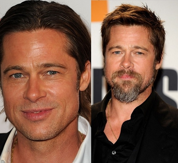 bradd-pitt-1 21 Photos Of Celebrities With & Without Beard