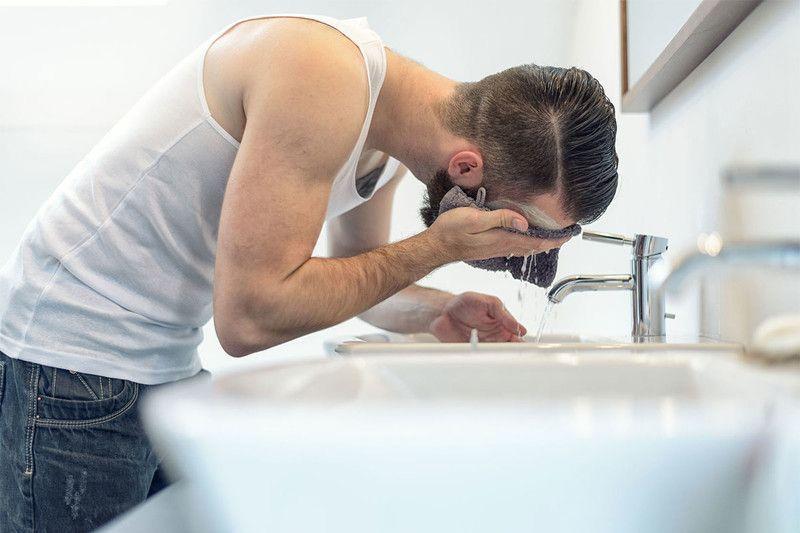 clean beard regularly