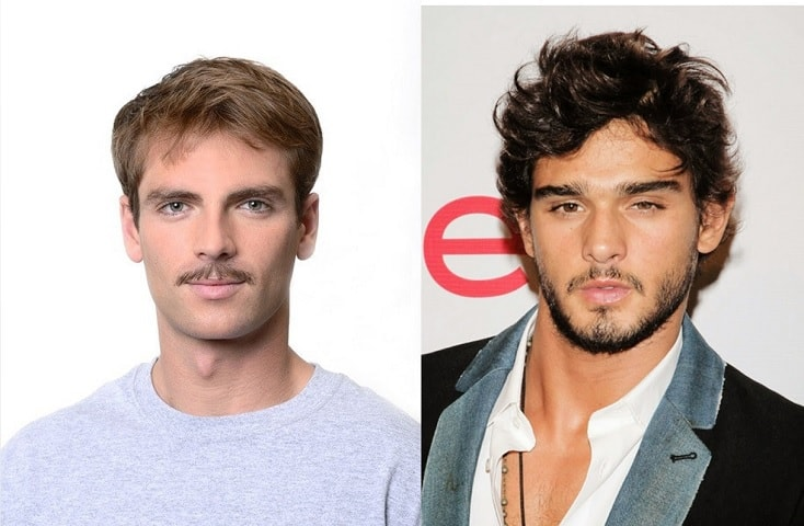 small-face 70 Hottest Mustache Styles for Guys Right Now [2020]