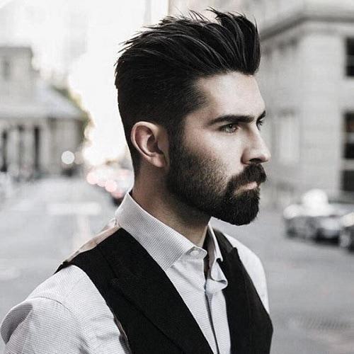warming face with beard