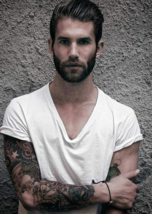 short-hairstyles-for-men-with-beard-1 80 Manly Beard Styles for Guys With Short Hair