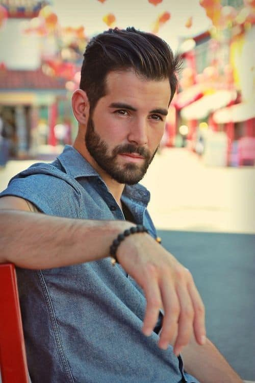 short-hairstyles-for-men-with-beard-6 80 Manly Beard Styles for Guys With Short Hair