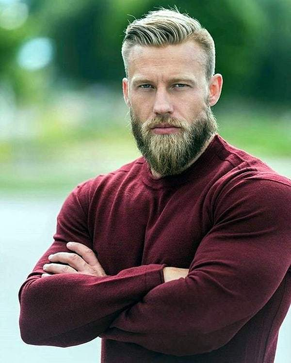 short-hairstyles-for-men-with-beard-8 80 Manly Beard Styles for Guys With Short Hair
