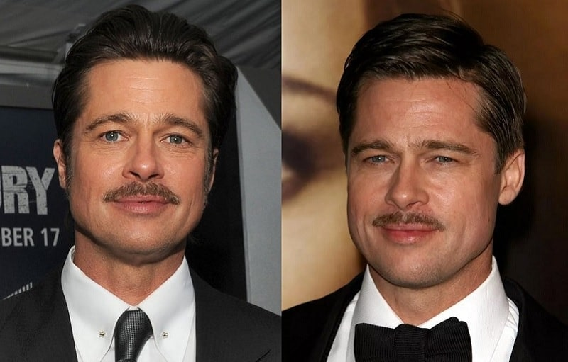 brad-pitt 11 of the Most Renowned Actors with Mustaches