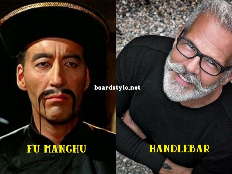 fu-manchu-vs-handlebar 5 Most Popular Fu Manchu Mustache Styles of All Time