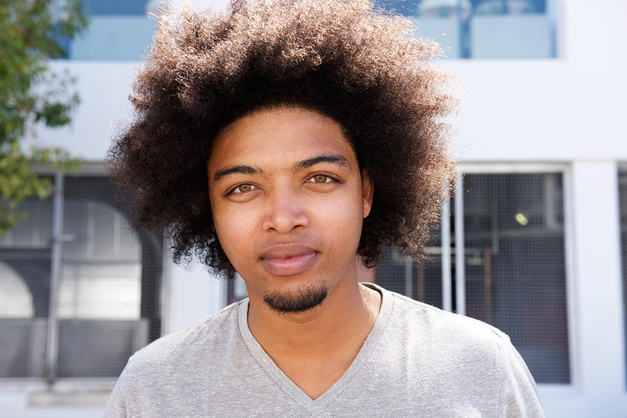 goatee-bearded-black-men-with-curly-hair 35 Iconic Goatee Styles for Black Men [2019]