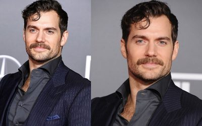Actor with mustache style