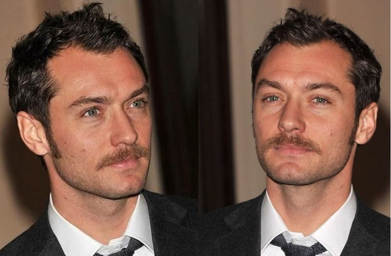 jude-law 11 of the Most Renowned Actors with Mustaches