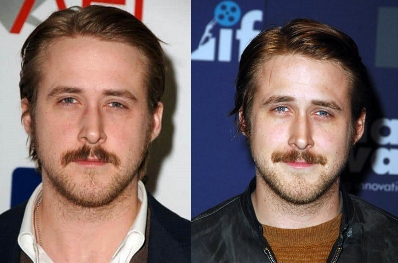 ryan-gosling 11 of the Most Renowned Actors with Mustaches