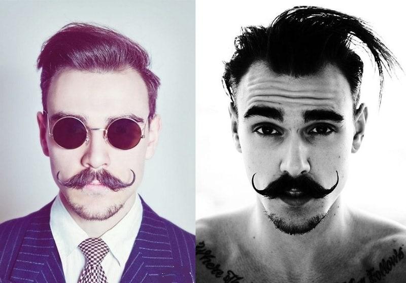 short-beard-long-mustache-1 7 Awesome Short Beard Styles With A Long Mustache