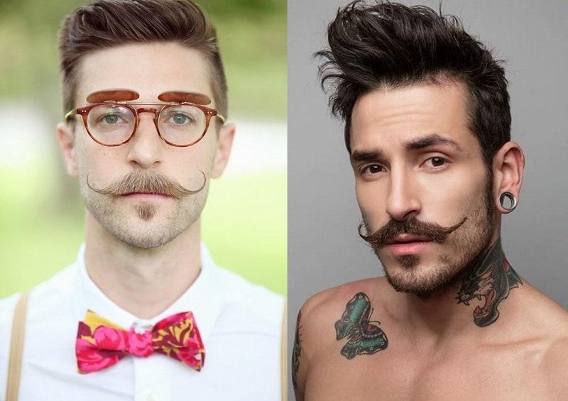 short-beard-long-mustache-2 7 Awesome Short Beard Styles With A Long Mustache