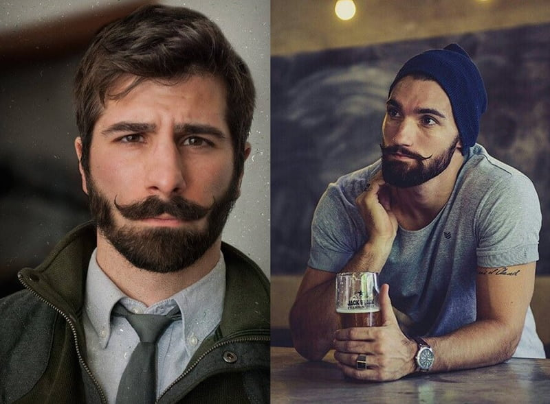 short-beard-long-mustache-3 7 Awesome Short Beard Styles With A Long Mustache