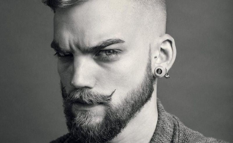 short beard long mustache