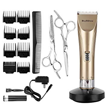 BuySShow-Quiet-Professional-Hair-Clippers-Set-Cordless-Rechargeable-Hair-clippers 3 Best Barber Clippers for Professional Hairstylists