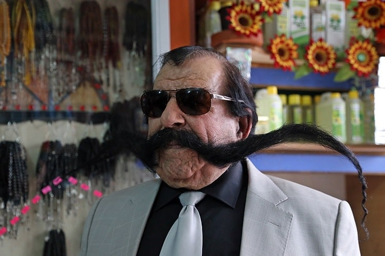 Haci-Kilic 3 Popular Longest Mustache of The World