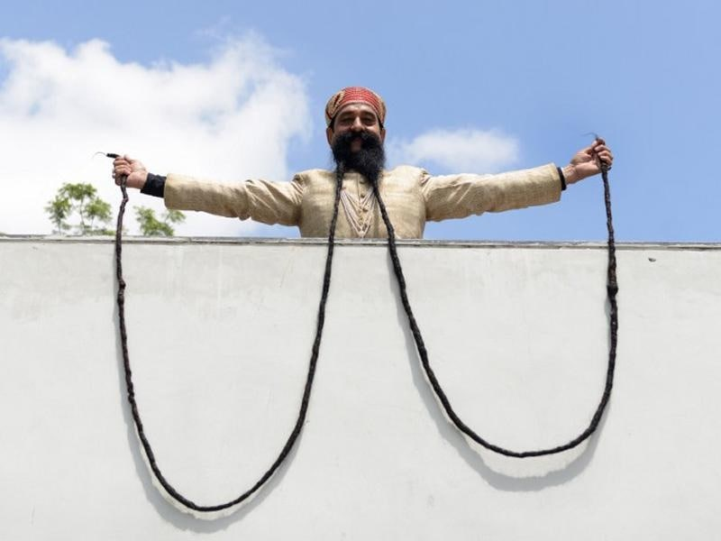 Ram-Singh-Chauhan 3 Popular Longest Mustache of The World
