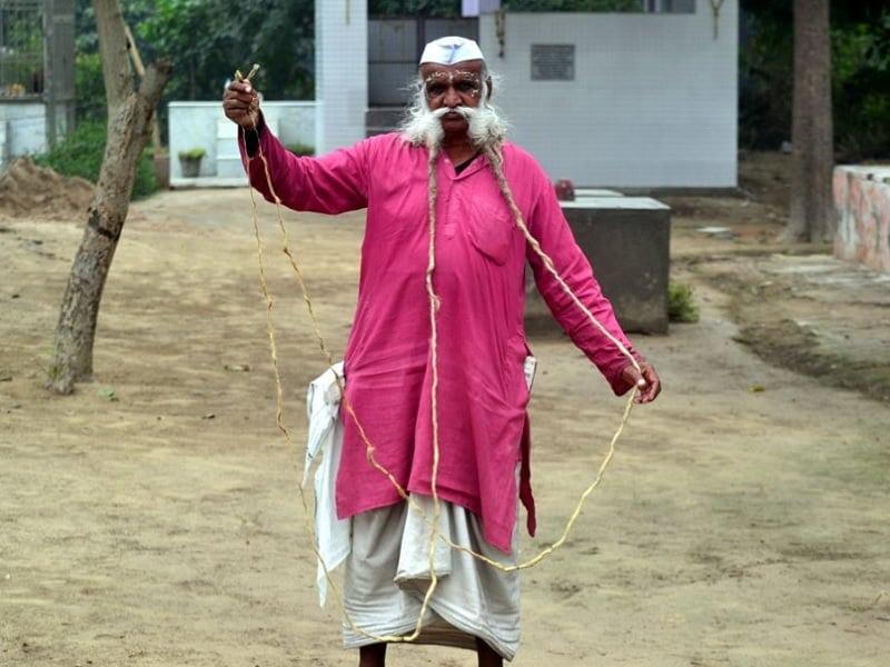 Ramesh-Chand-Kushwaha 3 Popular Longest Mustache of The World