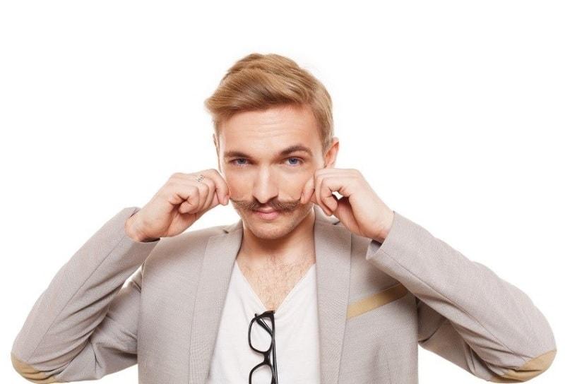 blonde-mustache-2 7 Best Blonde Mustache Styles to Try (2020)