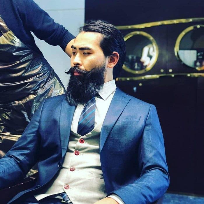 chinese beard style