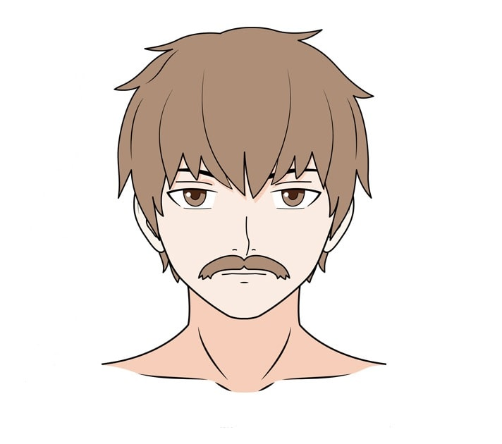 how to draw a mustache on a picture